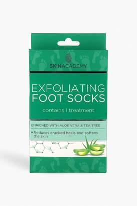 boohoo Skin Academy Exfoliating Foot Socks - Tea Tree