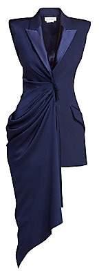 Alexander McQueen Women's Sleeveless Draped Asymmetric Wool & Silk Jacket