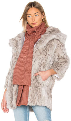 Michael Stars Cable Knit Mock Neck Scarf