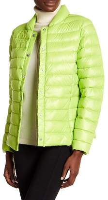 Via Spiga Solid Quilted Puffer Jacket
