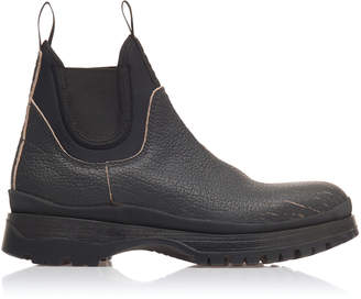 Prada Leather And Neoprene Sock Boots
