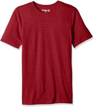Hurley Men's Short Sleeve Staple Tri-Blend Crew Neck and Vneck Tee Shirt