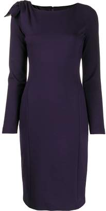 Emporio Armani long sleeve straight fit dress
