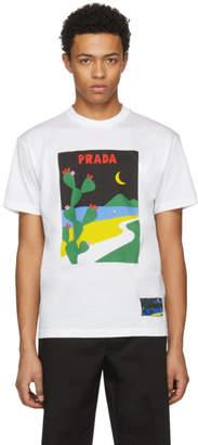 Prada White Moon T-Shirt