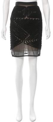 Alexander Wang Textured Mesh Skirt