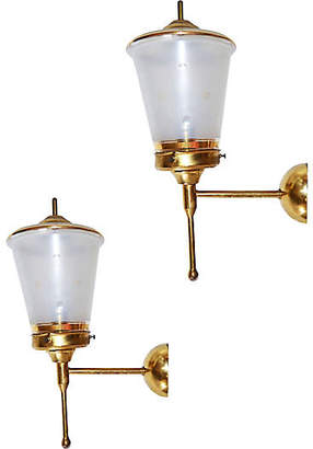 One Kings Lane Vintage French Sconces by Lunel - Set of 2