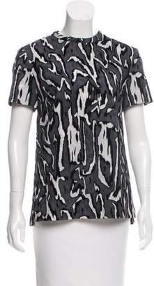 Proenza Schouler Textured Short Sleeve Top