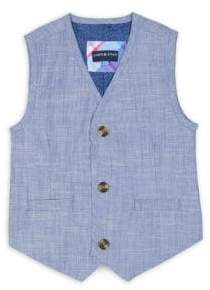 Andy & Evan Little Boy's Two-Piece Chambray Suit Set