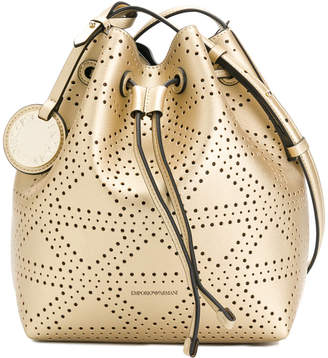 Emporio Armani embossed style satchel bag
