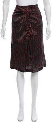Isabel Marant Silk Printed Knee-Length Skirt w/ Tags