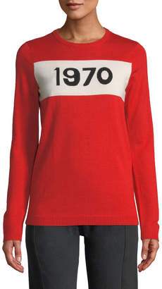 Bella Freud 1970 Graphic Wool Pullover Sweater