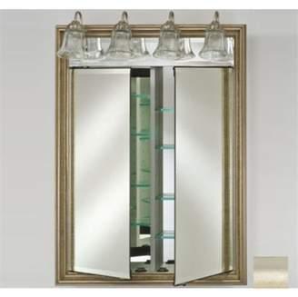 Afina Corporation DD-LT3140RSATSV 31x40 Traditional Integral Lighted Double Door - Brushed Satin Silver