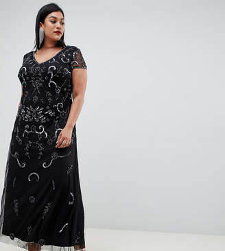 ac8d7c35b3b Lovedrobe Luxe Plus Lovedrobe Lux all over embellished maxi dress
