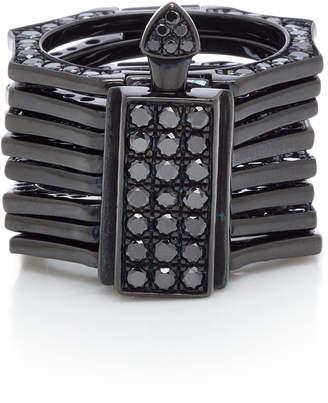 Black Diamond LYNN BAN Reverso Rhodium and Convertible Ring Size: 6.5