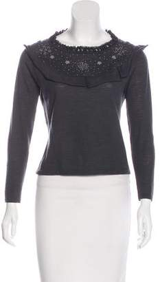Philosophy di Alberta Ferretti Embroidered Virgin Wool Sweater