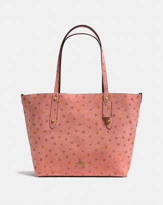 Coach Reversible Large Market Tote With Star Glitter Print