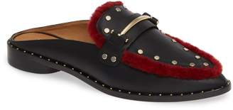 Joie Taran Loafer Genuine Shearling Trim Mule