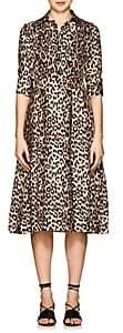 Barneys New York Women's Leopard-Print Silk Shirtdress