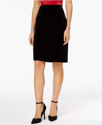 Kasper Velvet Pencil Skirt