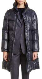 Fabiana Filippi Suede Collar Quilted Puffer Coat