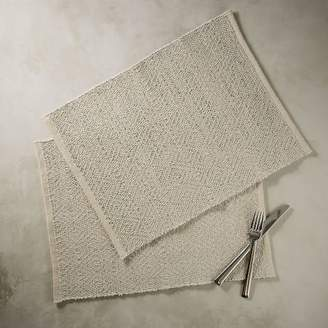west elm Woven Metallic Placemat Set