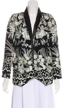 Haute Hippie Structured Embroidered Blazer