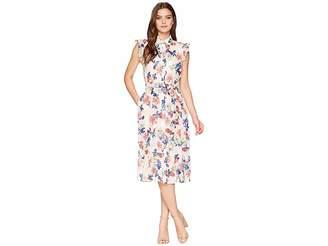 Tahari ASL Floral Midi Shirtdress Women's Dress