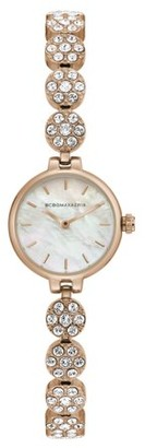 BCBGMAXAZRIA Women's Rose Gold Case Mother Of Pearl Dial Rose Gold Bracelet Watch