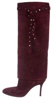 Valentino Studded Knee-High Boots