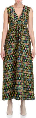 Ter Et Bantine Jacquard Empire Waist Maxi Dress