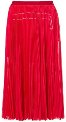 Aviu pleated mid-lenght skirt