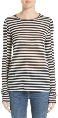 Women's Rag & Bone Arrow Stripe Tee $195 thestylecure.com