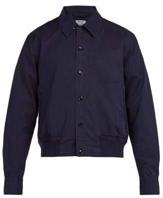 Acne Studios Collared Cotton Bomber Jacket - Mens - Navy