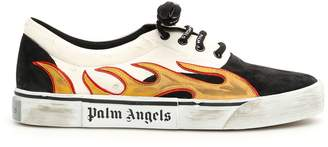Palm Angels Distressed Flame Sneakers