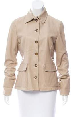 Loro Piana Structured Leather Jacket
