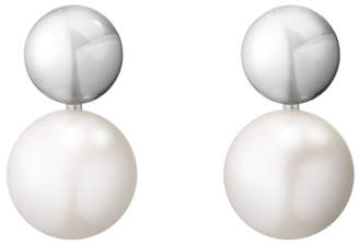 Georg Jensen Grape Pearl Drop Earrings, White/Grey