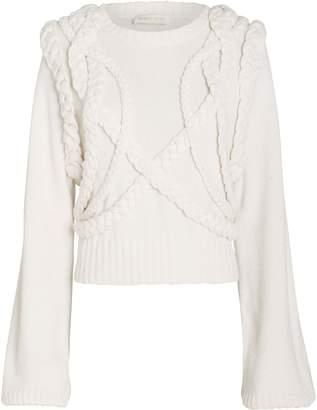 Ronny Kobo Yeva Cable Knit Sweater