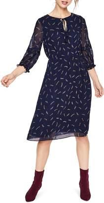 Boden Iona Tassel Tie Pattern Midi Dress