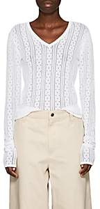Marc Jacobs Women's Pointelle-Knit Sweater - White