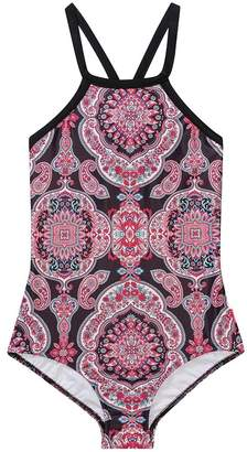 Seafolly Girls Indian Chintz High Neck One Piece