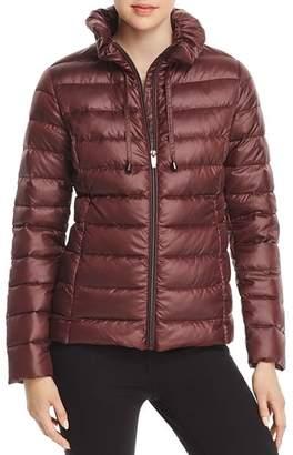 Via Spiga Packable Ruffled Collar Down Coat