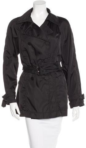 pradaPrada Double-Breasted Rain Coat