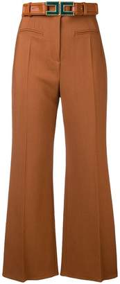 Elisabetta Franchi high-waisted cropped trousers