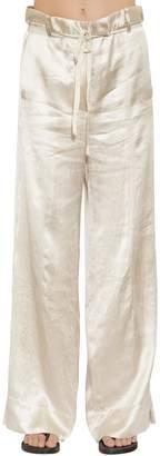 Ann Demeulemeester Fluid Satin Wide Leg Pants