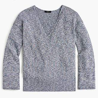 J.Crew Flared-sleeve marled swing sweater