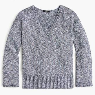 J.Crew Flared-sleeve marled swing sweater