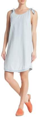 Susina Tie Strap Chambray Dress (Regular & Petite)