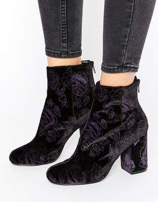 Shoelab ShoeLab Velvet Floral Boot