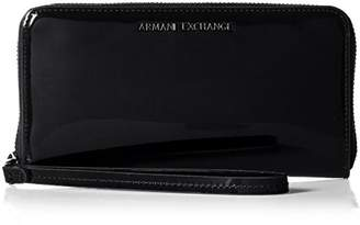 Armani Exchange A X Round Zip with Leather Patent Wallet