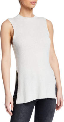 Cupcakes And Cashmere Remmi Crewneck Sleeveless Ribbed Sweater Tank